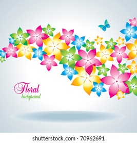 Floral background with butterfly.