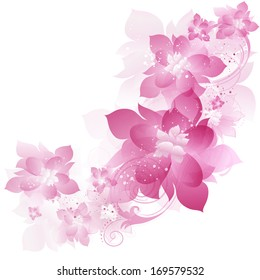 Floral Background With Design Ornate