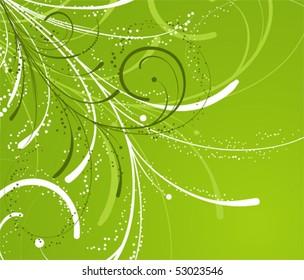 Floral background for design, vector illustration