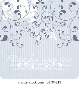 floral background, EPS 8, vector, floral style