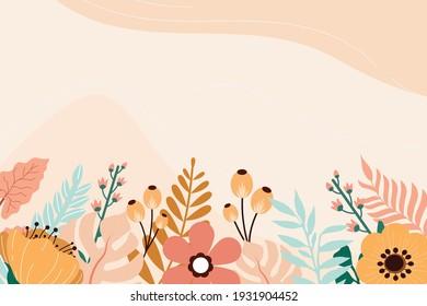 Floral Background Flat Illustration Vector