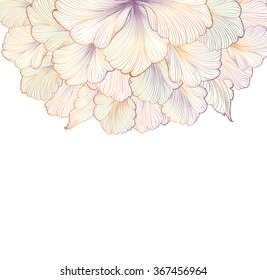 Floral background. Flower pattern. Flourish card with copy space.