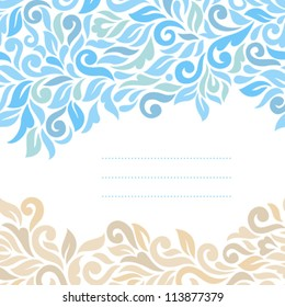 Floral background. Ornamental seamless pattern