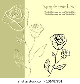 Floral background with roses, vector illustration