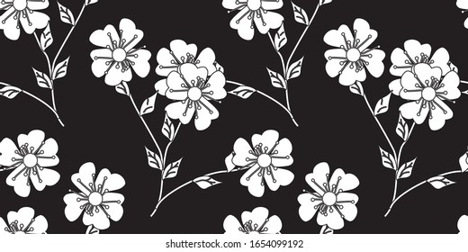 Floral Background. Seamless Pattern With Floral Motifs able to print for cloths, tablecloths, blanket, shirts, dresses, posters, papers.