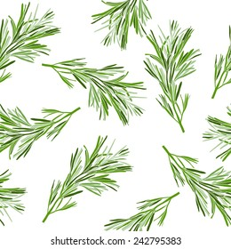 Floral background. Seamless pattern with rosemary.