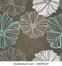Floral background Seamless floral pattern with stylized flower  Seamless vector background.