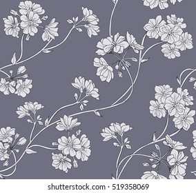 Floral background. Seamless vector pattern.