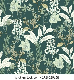 Floral background with tulips. Background for surface design