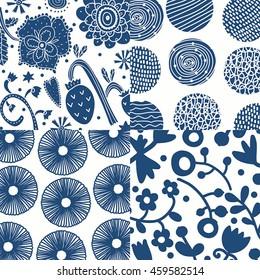 Floral background. Vector illustration.