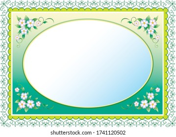 Floral background for wedding invitations, greeting cards, birthday, certificate. Place for text. Vector illustration