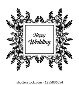 floral background for wedding vector illustration