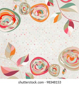 Floral backgrounds with vintage roses. And also includes EPS 8 vector