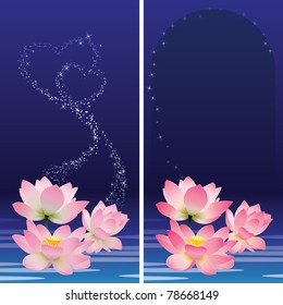 Floral banners. Lotus.