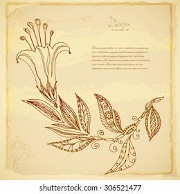 Floral batik background