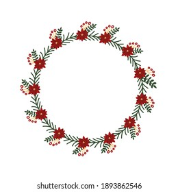 Floral or Botanical Christmas Wreath