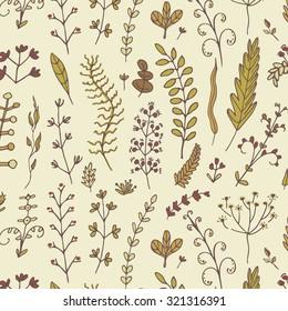 Floral branch pattern