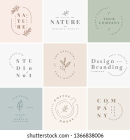 Floral brand and logo designs vector collection