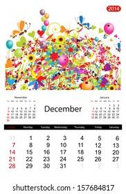 Floral calendar 2014, december