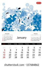 Floral calendar 2014, january
