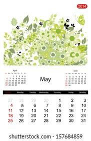 Floral calendar 2014, may