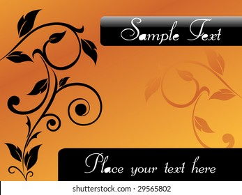 floral card design with place of sample text