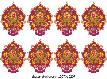 Floral coloful ornament background. Illustration