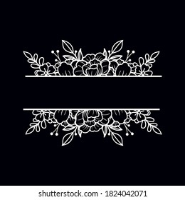 Floral cut file with space in the midle