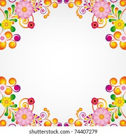 Floral design background.