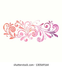 Floral design element. Watercolor pattern.