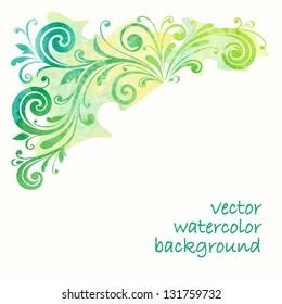 Floral design element. Watercolor pattern.
