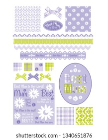 Floral Design Elements and seamless patterns