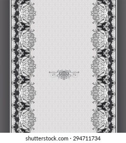 floral design grey stylized plant background