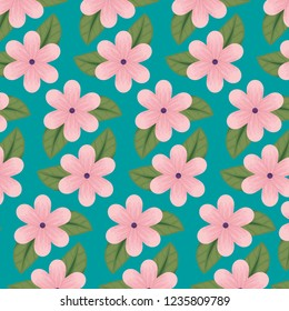 floral design with natual petals and leaves background