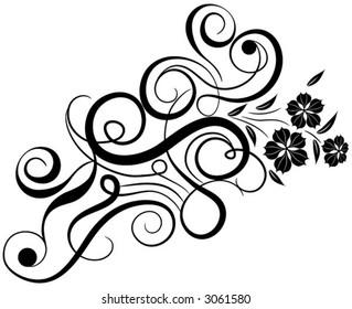 Floral element for design, vector illustration
