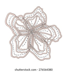 Floral embroidery,applique in vector.