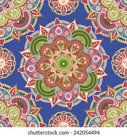 Floral ethnic ornamental pattern
