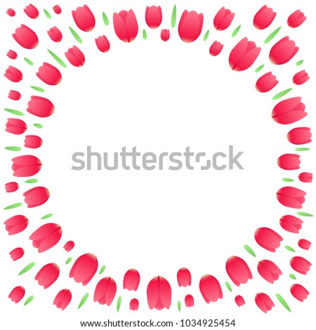 Floral Explosion Firework Red Tulips Green Stock Vector (Royalty ...