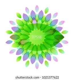Floral flower abstract leaf background