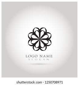 golden leaf symbol icon logo vector stock vector royalty free