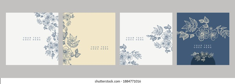 Floral flowers border seamless pattern in sketch style on white background - hand drawn exotic blooms of monstera, protea, magnolia and plumeria with colorful line contour. Vector illustration