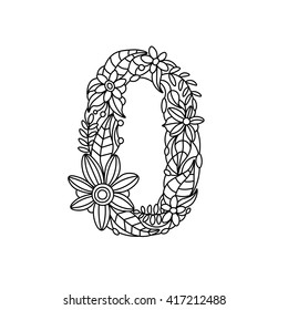 Leo Zodiac Sign Made Black Floral Stock Vector 194395562 - Shutterstock