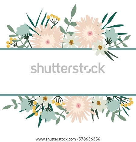 Floral Frame Flower Bouquet Vintage Cover Stock Vector Royalty Free