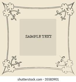 Floral frame sample text card