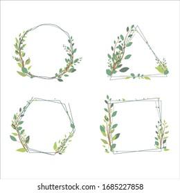 floral frame for wedding invitation vector