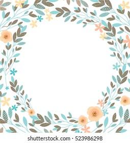 Floral Frame-Beautiful vintage wreath