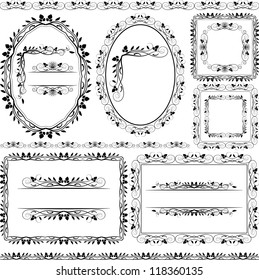 floral frames, borders and ornaments