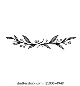 Floral frames. Unique decoration for greeting card, wedding invitation, save the date. Space for your text. Isolated on white background