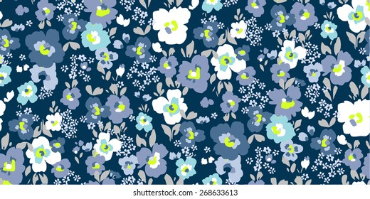 floral garden seamless pattern