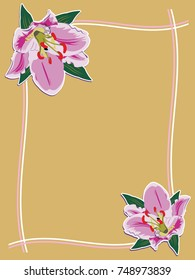 floral gold ornament lily